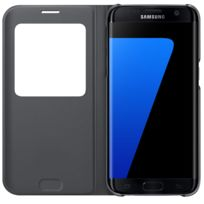 Samsung - S View Cover pour Galaxy S7 Edge - Noir