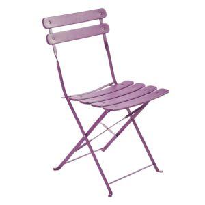 carrefour chaise pliante m tal violet pas cher achat vente chaises de jardin. Black Bedroom Furniture Sets. Home Design Ideas