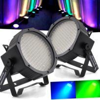 Flash - Pack 2 lumières Led Par 56 à 177 Diodes Rgb