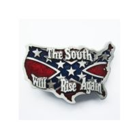 56b3131980a0 Universel - Boucle de ceinture drapeau rebel usa southern by the ...