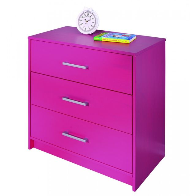 Altobuy Pink - Commode 3 tiroirs