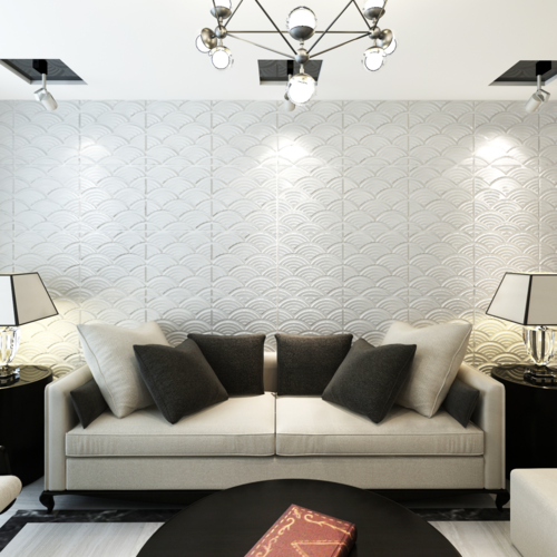 vidaxl panneaux muraux 3d arqu 0 5 m x 24 panneaux 6 m2 pas cher achat vente panneau. Black Bedroom Furniture Sets. Home Design Ideas