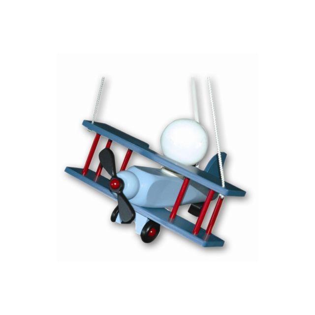 Waldi Leuchten Suspension Chambre Enfant Avion Aeronef Bleu