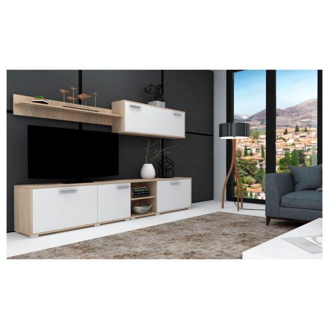 comfort ensemble de meubles meuble tv couleur ch ne. Black Bedroom Furniture Sets. Home Design Ideas