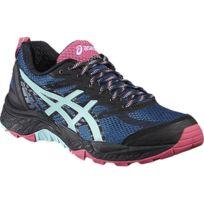 Asics - Gel Fuji Trabuco 5 Bleue Et Rose Chaussures de trail femme