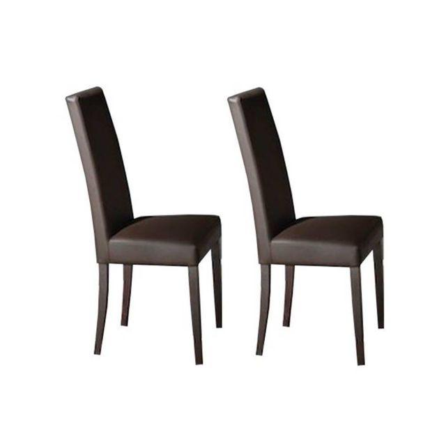 inside 75 lot de 2 chaises design italienne vertigo lux en tissu enduit polyurthane simili - Chaise Italienne Design