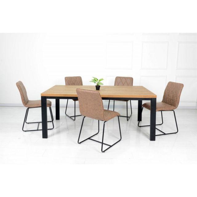 Price Factory Ensemble Table Et Chaises Table 160 Cm Aaron 6