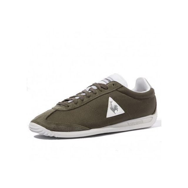 42e4355edb98 Le Coq Sportif - Quartz Nylon Homme Chaussures Kaki Multicouleur - pas cher  Achat   Vente Baskets homme - RueDuCommerce
