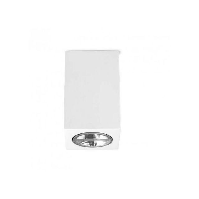 Leds C4 Plafonnier en plâtre Ges H11 cm - Blanc