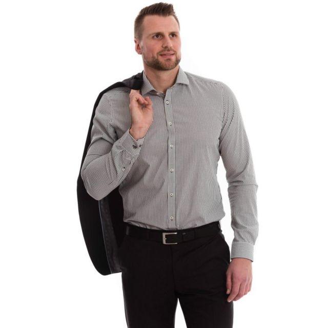 Venti Chemise blanche rayée noir