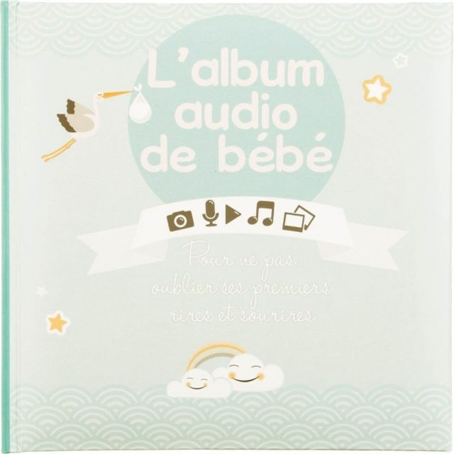 Album de bébé audio - 16 pages - Vert