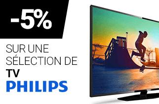 -5% sur une sélection de TV PHILIPS