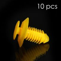 Mygoodprice - Lot de 10 clips fixation garniture jaune Rover