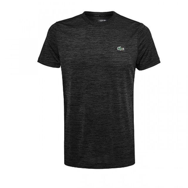 61245bc8669 Lacoste - Tee-shirt - Th9457-00031 Noir - pas cher Achat   Vente Tee shirt  homme - RueDuCommerce