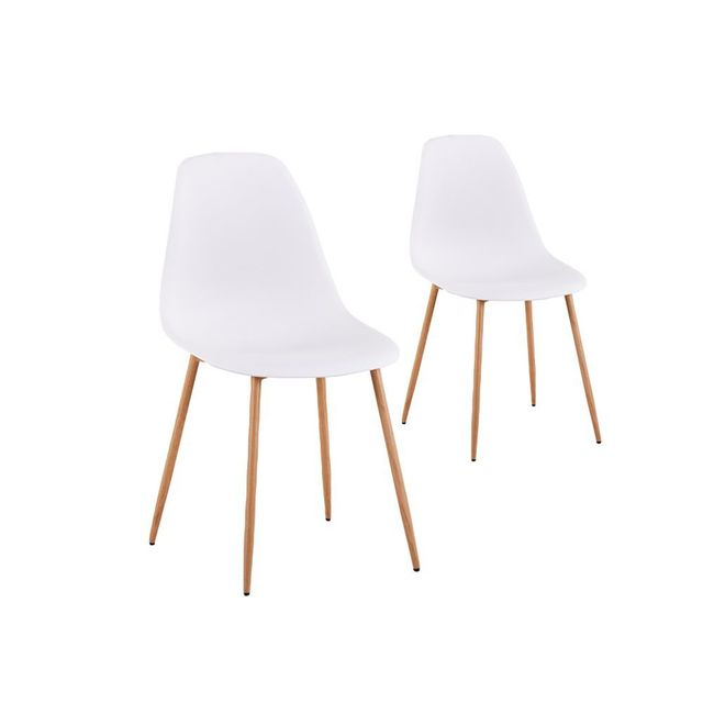 Usinestreet lot de 2 chaises scandinaves eva coque for Chaise zons