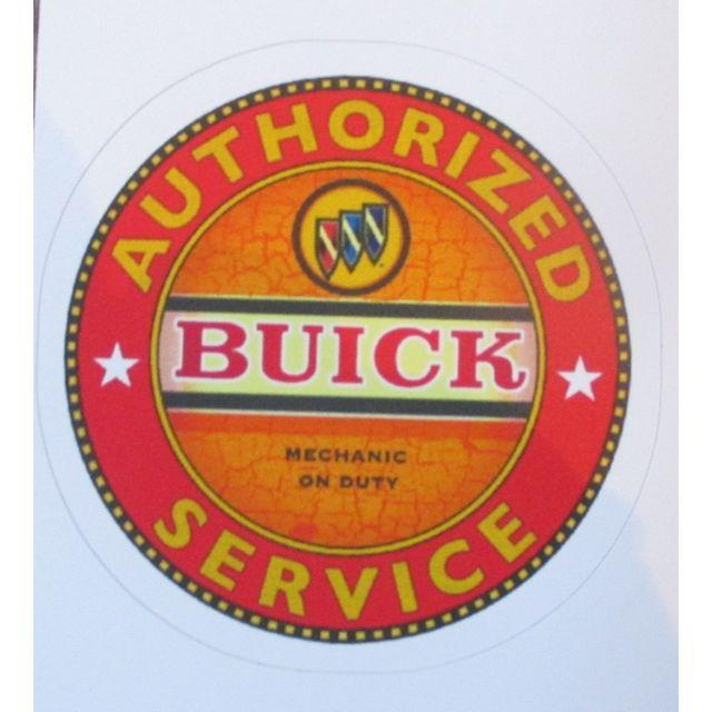 Universel Mini sticker buick authorised service orange autocollant pin up