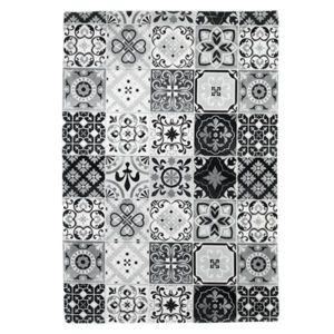 mon beau tapis tapis motifs carreaux de ciment noir. Black Bedroom Furniture Sets. Home Design Ideas
