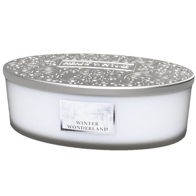 Kontiki Bougie ellipse 4 mèches Heart and Home Merveille D'hiver