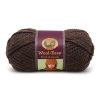 Lion Brand Yarn Company - 1 PiÈCE Wool-ease Thick And Quick, ForÊT, Brun