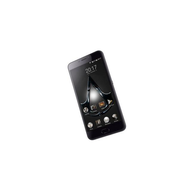 Auto-hightech Smartphone 5,5 pouces, 4G, Android 6.0, Quad Core avec 32GB de Rom - Noir