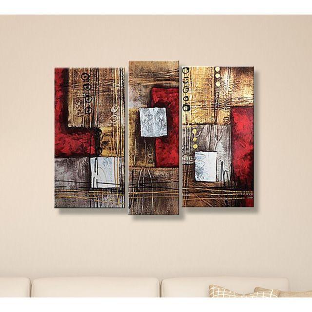 deco soon tableau peinture abstrait rectangle pas cher. Black Bedroom Furniture Sets. Home Design Ideas