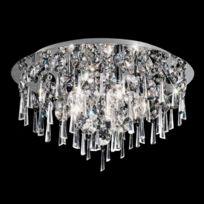 Plafonnier chrome en cristal Jazzy 5 Ampoules