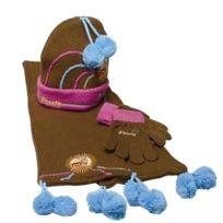 Titi - Set Bonnet écharpe gants marron
