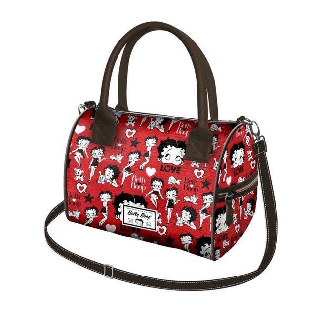 Betty Boop Sac à main rouge forme bowling pas cher