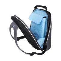 be-ez - Be.ez Le Bag Pro Sac à dos pour MacBook Pro et ordinateurs portables 17 Gris Argent/Turquoise