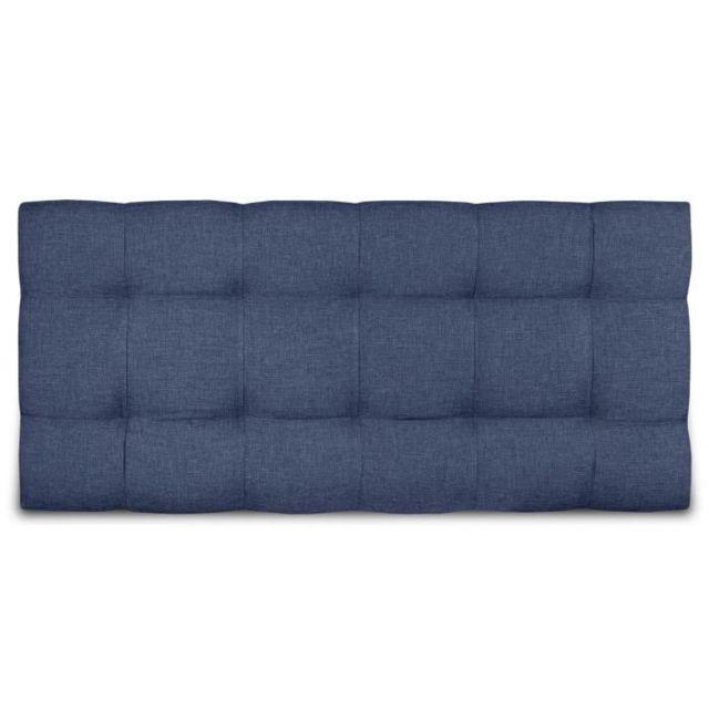 GÉNÉRIQUE - Tete De Lit Tete de lit Kyna classique - Tissu bleu ...