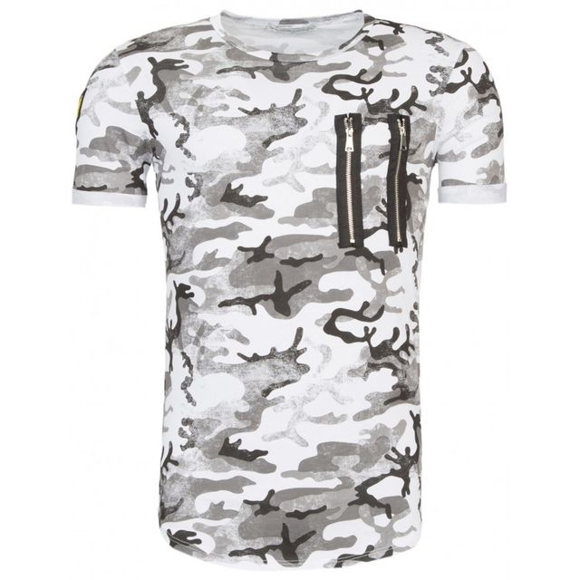 T-shirt homme moderne gris