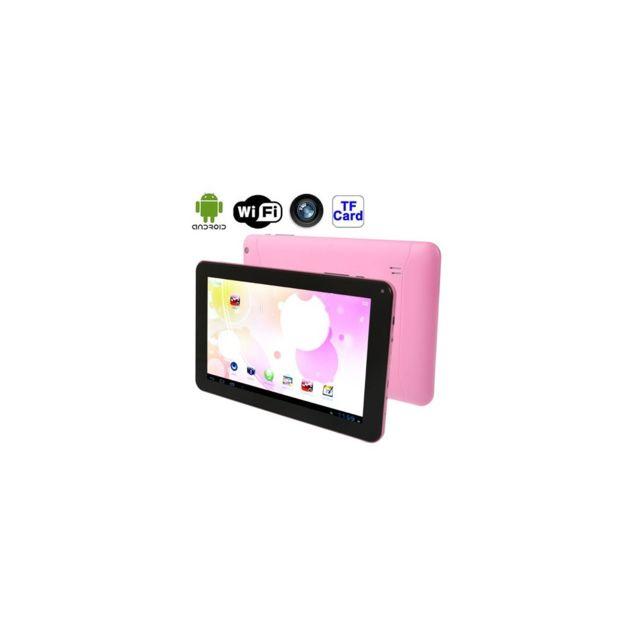 Auto-hightech Tablette Pc 9.0 pouces, 512Mo+8Go, Android 4.4 Allwinner A33 jusqu'à 1.3GHz, WiFi, Hdmi rose