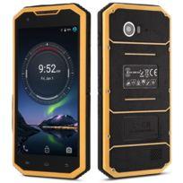 Auto-hightech - Smartphone 4G avec 5.0 pouces, android 6.0, étanche et anti-rayure - jaune