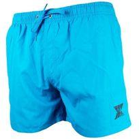 No Publik - Short Bain Flottant Homme Logo Turquoise