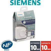 Siemens - Détecteur de monoxyde de carbone CO, Nf Delta Reflex 5TC1260 Autonomie 10 ans - Garantie 10 ans