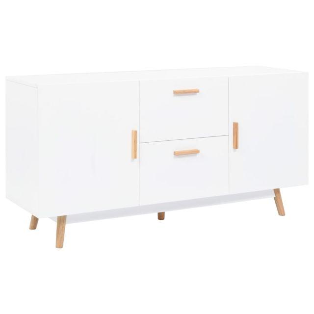 Vidaxl Buffet 140x40x70 cm Mdf Commode Armoire de Rangement Salon Chambre
