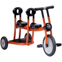 Italtrike - bi-tricycle 2/4ans 2 places orange