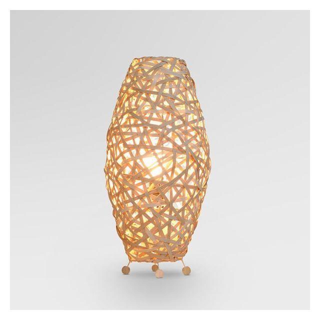 Marque Generique - Lampe d'ambiance en osier forme courbe - Lampes et Suspensions décoration originale maison Multi - 0cm x 0cm x 0cm