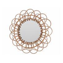 Decoris - Miroir en bois rosace D.55cm Lucie