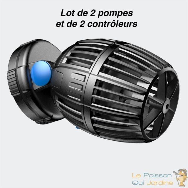 Le Poisson Qui Jardine Lot De 2 Pompes De Brassage, 500 à 4000 l/h + Contrôleur Pour Aquariums