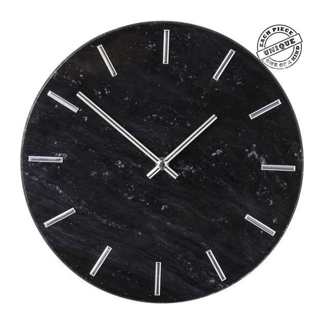 Karedesign Horloge murale Desire marbre noir Kare Design