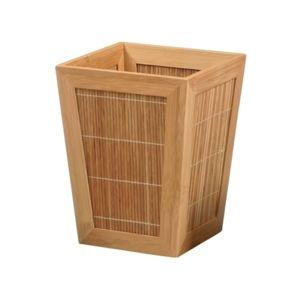 Msv poubelle salle de bain bambou 20 5 x 20 5 x 26 cm for Poubelle de salle de bain bambou
