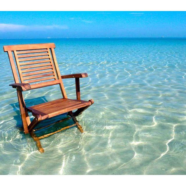 Wood En Stock fauteuil en teck huilé modèle pliant, fauteuil de jardin