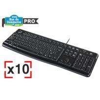 LOGITECH - Pack business - 10 Claviers standards - Keyboard K120