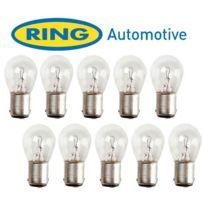 Ring - 10 Ampoules Ba15D 24V - 21W - Clignotants et Feux de Stop