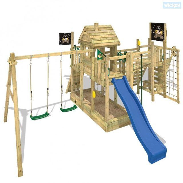 wickey aire de jeux bois santa maria pas cher achat. Black Bedroom Furniture Sets. Home Design Ideas