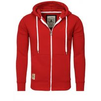 Akito Tanaka - Sweat zippé capuche rouge 18 Rouge