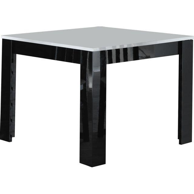 063e4bc62d4 COMFORIUM - Table à manger carrée laquée brillante coloris noir et blanc