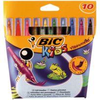 Bic Kids - feutres pinceaux visaquarelle - lot de 12 pochettes de 10 + 1