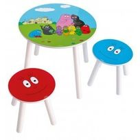 Barbapapa - Ensemble Table + 2 Tabourets